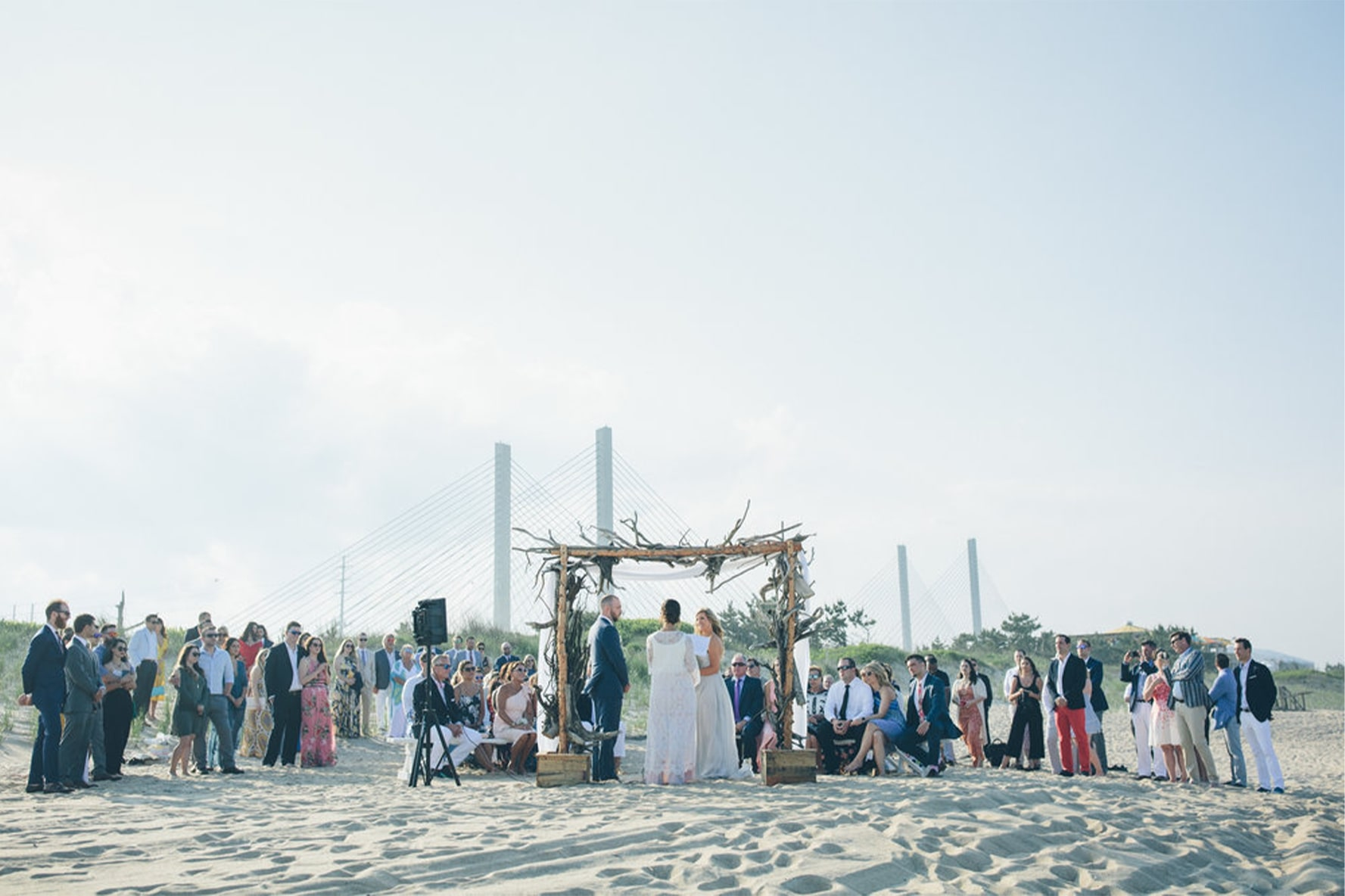Wedding Ceremony on the Delaware Seashore