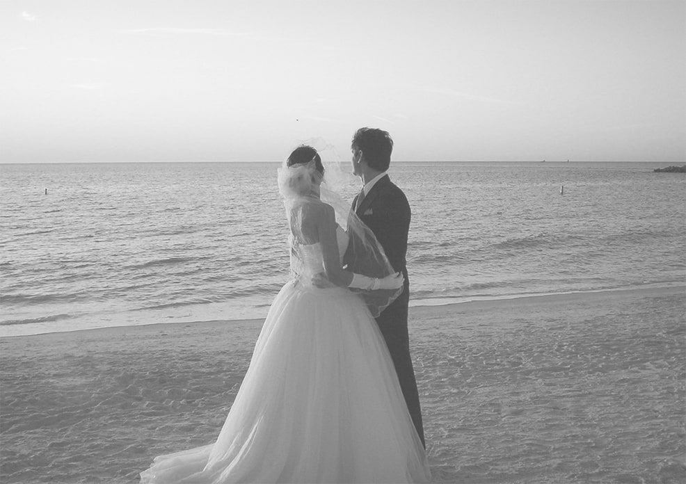 Beach Venue wedding couple